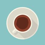 Getrunkener Kaffe